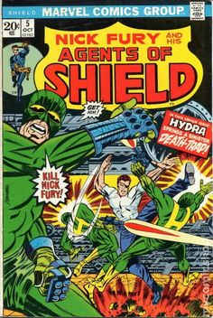 NICK FURY AND HIS AGENTS OF SHIELD 5, BRONZE AGE MARVEL COMICS
