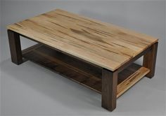 Walnut and wormy maple table