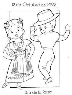Recursos Educativos - Fichas infantiles y dibujos Hispanidad, día de la raza
