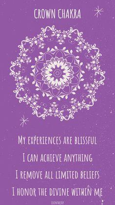 Chakra Mantra, Chakra Art, Chakra Meditation, Chakra Healing, Healing Affirmations, Positive Self Affirmations, Yoga Mantras, Chakra System, 7 Chakras