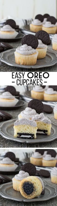 Easy Oreo Cupcakes - the best Oreo cupcake recipe with Oreo buttercream!
