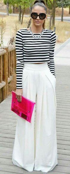 Spring Fashion Tips New Spring/Summer Fashion Trend Stripes.Spring Fashion Tips New Spring/Summer Fashion Trend Stripes Trend Fashion, Summer Fashion Trends, Look Fashion, Spring Summer Fashion, Autumn Fashion, Spring Trends, Fashion Ideas, Dubai Fashion, Classy Fashion