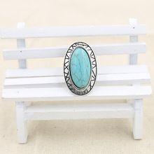 2015 nuevo tibetano de la turquesa ajustable anillos largos para mujer Bohemia turquesa anillo de compromiso joyería barata venta al por mayor(China (Mainland))