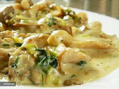 Pleurotus in vin alb Romanian Food, Cooking Recipes, Healthy Recipes, Mushroom Recipes, Raw Vegan, Soul Food, Stuffed Mushrooms, Dessert Recipes, Food And Drink