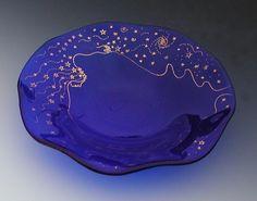 Custom Fused Glass Bowl Or Birdbath by Stacey Alysa | CustomMade.com