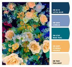 Paint Color Palettes, Colour Pallette, Colour Schemes, Color Combos, Top Paint Colors, Paint Colors For Home, House Colors, Design Seeds, Color Blending