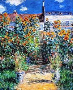 Claude Monet - The Artist's Garden at Vétheuil, 1881