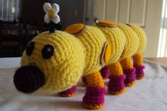 Ravelry: Mario Bros. Wiggler pattern by Janet Carrillo    For Max