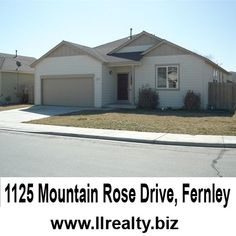 Inc By Ll Realty 1125 Mountain Rose Drive Fernley Size 2088 Bedrooms 3 For More Information