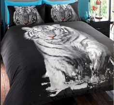Tiger Duvet Set Single £13 Double £20 King £25