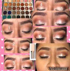 Easy jaclyn hill morphe palette look with stilla glitter