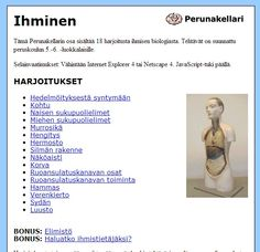 Perunakellari: Ihminen Science And Nature, Human Body, Anatomy, Teaching, Opi, School Stuff, Health, School Supplies, Salud