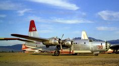 """(T-30) Consolidated PB4Y-2 """"Privateer"""" (N3739G) Hawkins & Powers Aviation Inc., Air Tanker - Ryan Air Attack Base, Early 1980's (2)"""