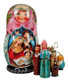épinglé par ❃❀CM❁✿Nativity Nesting Dolls & Ornaments✋Russian Matriochka / Nesting Dolls : ✋Russian ArtMore Pins Like This At FOSTERGINGER @ Pinterest✋