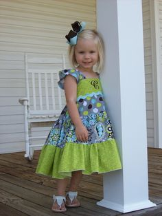 Think of this for Reese.  Girls Dress Sewing Pattern - Baby Doll Twirl - PDF 6m-6, Girls and Dolls. $7.25, via Etsy.