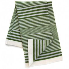 *SPONSORED* (Thanks Tim and Kelly!) lambswool baby blanket (green grey cream) Sweet William USA US$98
