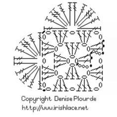 Pattern head heart crochet _ باترون رأس قلب