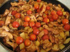 Ζουζουνομαγειρέματα: Τηγανιά με μπουτάκια κοτόπουλο, μανιτάρια, πατατού...