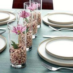 ideia para festa copos com flores