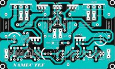 This is Driver Power Amplifier Namec TEF, it can produce high power amplifier about Output. Complete Schematic Diagram and PCB Layout here, if you need high power amplifier please visit this. Electronic Circuit Projects, Electronic Kits, Electronics Projects, Class D Amplifier, Speaker Amplifier, Dc Circuit, Circuit Diagram, Circuit Board Design, Electronic Schematics