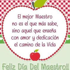 feliz dia del maestro - Real Tutorial and Ideas Teacher Appreciation, Happy Day, Happy Mothers Day, Presents For Teachers, Teaching Quotes, Free To Use Images, Happy Birthday Messages, Teachers' Day, Holiday Parties