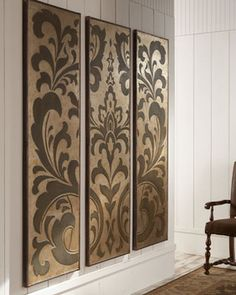 Polished Damask Wall Panels Traditional Artwork For 785 Dollars I Think It Could Be Made