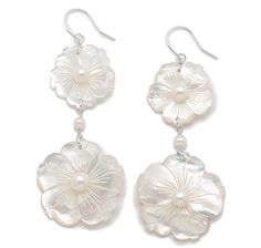 Pearl Lustre Sterling Silver Freshwater Pearl & Mother of Pearl Earrings