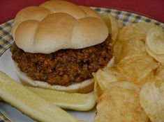 """This recipe is from the 1940′s, when my grandma was a young WWII war bride. My grandpa had a group of friends from college who called themselves """"The Dirty Dozen."""" Whenever the group got together for a meal they made these sloppy joes. Meat and sugar were rationed during the war and recipes were made [...]"""