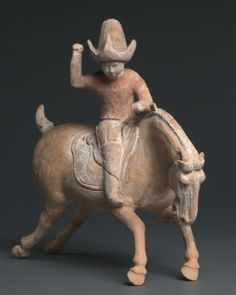 An exercise for military troops, polo was also fashionable among men and women of Tang China, and this polo player is actually a woman dressed in a man's riding habit. Terracota, Chinese Arts And Crafts, Cleveland Museum Of Art, Asia, Horse Sculpture, China Art, Chinese Ceramics, Equine Art, Chinese Culture