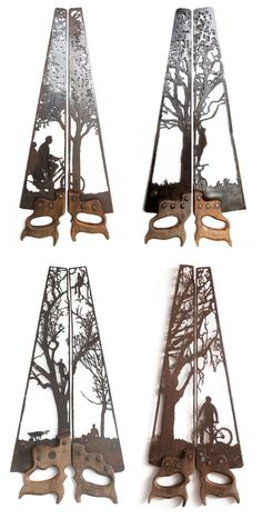 Intricately Rustic Designs Carved into Antique Farm Equipment is part of Welding art - Sculptor Dan Rawlings has carved a name for himself into the art world with his eccentric and rustic hand cut sculptures The UKbased artist Metal Tree Wall Art, Scrap Metal Art, Metal Artwork, Sheet Metal Art, Wood Wall, Metal Welding, Welding Art, Welding Tips, Arc Welding