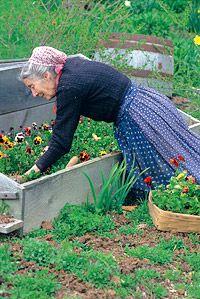 In her garden....love....