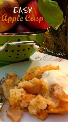 Easy Apple Crisp ~ Pearls + Girls
