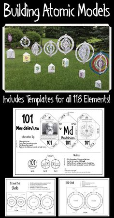 Your students will love coloring, cutting out, and assembling these atomic models of all 118 chemical elements to make a beautiful and lasting display for your classroom. Chemistry Classroom, Teaching Chemistry, Science Chemistry, Physical Science, Earth Science, Forensic Science, Organic Chemistry, Life Science, 7th Grade Science