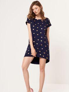 Dzianinowa sukienka z krótkim rękawem, MOHITO, SC727-03X