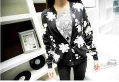 Embroidery Floral College Coat Jacket