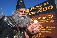 Chaz the Magician performs at Boo at the Zoo