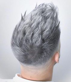 fade short mens hairstyles which are really handsome. White Hair Men, Silver Hair Men, Men Purple Hair, Blue Hair, Hair Color Cream, Red Hair Color, Color Red, Hair And Beard Styles, Short Hair Styles