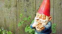 Carefully chosen yard ornaments complement the plants in your garden until fading or peeling paint makes them look shabby. Breathe new life into your tired, old ornaments by applying a fresh coat of paint. Painting Cement, Ceramic Painting, Diy Painting, Painted Ceramics, Outdoor Statues, Garden Statues, Gnome Statues, Concrete Garden Ornaments, Yard Gnomes
