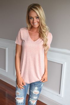 Simplicity V-Neck Top ~ Coral – The Pulse Boutique