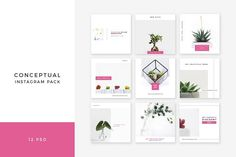 Conceptual Instagram Pack by Swiss_cube on @creativemarket
