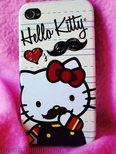Hello Kitty mustache iPhone case!