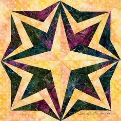 100 Blocks Blog Tour: Day 2, Giveaway! This is Delta Star by Sunny Steinkuhler. http://www.quiltmaker.com/blogs/quiltypleasures/: