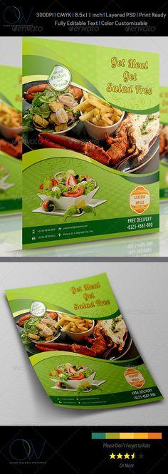 menu card pizza salats pasta