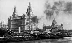 1912, about to position the Liver Birds.
