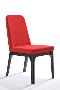 Modrest Comet Modern Red Fabric Dining Chair