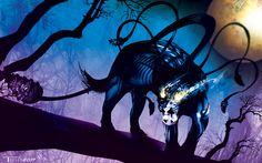 Displacer Beast by Tom Kelly on the web at TomKellyART.deviantart.com on @DeviantArt