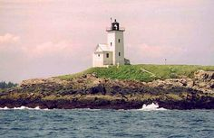 Two Bush Island Light, ME; Est. 1897 near Spruce Head, ME on Two Bush Channel, Penobscot Bay. Under the Maine Lights Program, Two Bush Island Light was transferred to the U.S. Fish and Wildlife Service in 1998. Two Bush Island Light can be seen distantly (about four miles) from Rackliff Island in Spruce Head, but it is best seen from a boat.