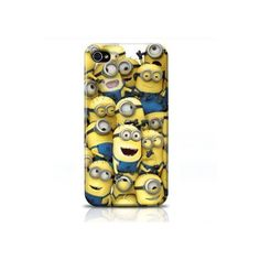 Coque Iphone 4 4s Minions ($560) ❤ liked on Polyvore featuring accessories and tech accessories