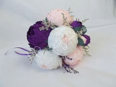 Bridal bouquet wedding bouque tpaper flower by Mazziflowers on Etsy, $45.00