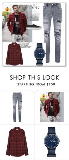 """Set 2"" by sanc15 ❤ liked on Polyvore featuring AMIRI, True Religion, Yves Saint Laurent, Lacoste, Vans, men's fashion and menswear"